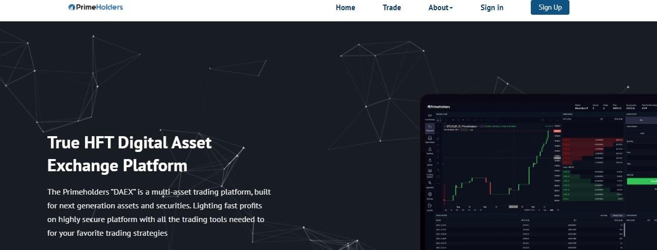 PrimeHolders website