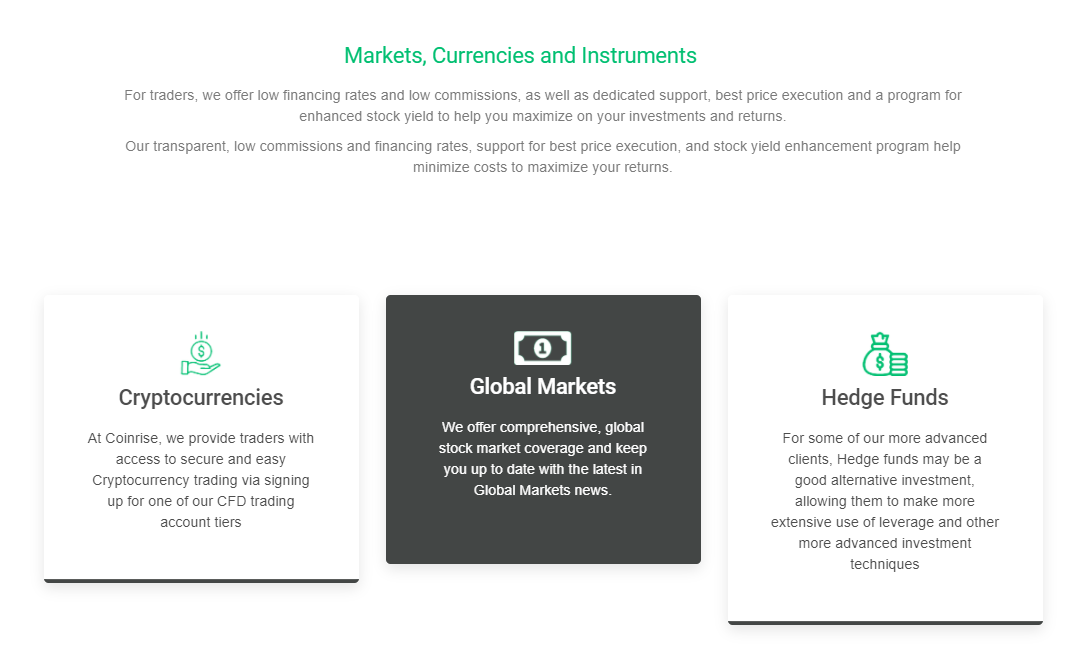 trading with Coinrise