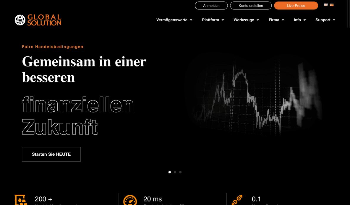 Die offizielle Homepage von Global Solution.