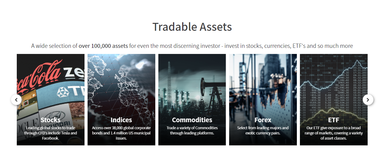 TRADE.com tradable assets